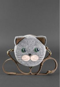 Сумка Miss Kitty, Everiot Bnote фетр+кожа (орех) bn-bag-21-felt-o