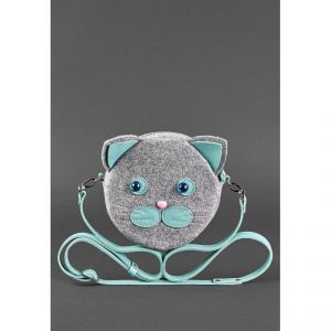 Сумка Miss Kitty Everiot Bnote фетр+кожа (тиффани) bn-bag-21-felt-tiffany